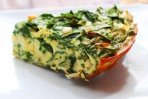 Frittata con espinacas y calabacín
