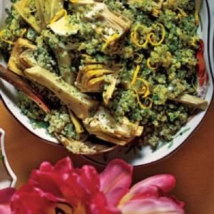 Ensalada de quinoa con alcachofas