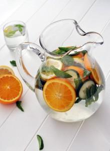 Refresco de cítricos y pepino